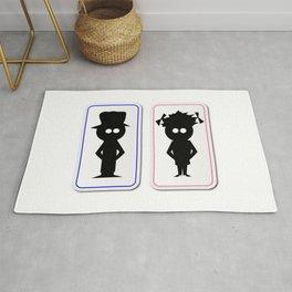 Boy and Girl Toilets Rug