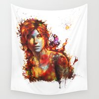 lara croft Wall Tapestries featuring Lara Croft by ururuty