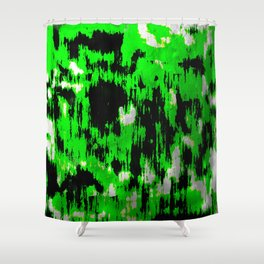 Neon Fractures Shower Curtain