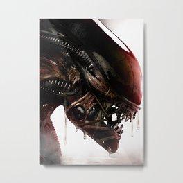 The Alien Metal Print