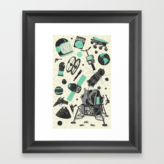 Space Funk Framed Art Print