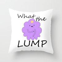 lumpy space princess Throw Pillows featuring Kawaii Lumpy Space Princess by AstralWisp