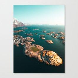 Norway Lofoten Henningsvær Soccer field V2 Canvas Print