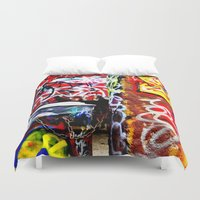 grafitti Duvet Covers featuring Grafitti by Emily Dolenz Photography