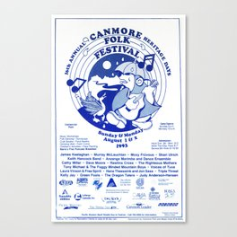 16. Canmore Folk Music Festival (1993) Canvas Print