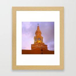 Cartagena Clocktower Framed Art Print