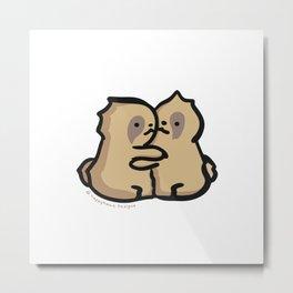 Sloths Hug. Metal Print