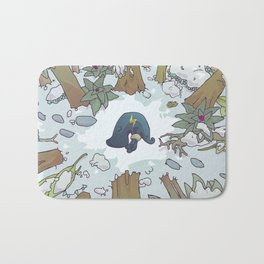 harrowed lost and bound Bath Mat