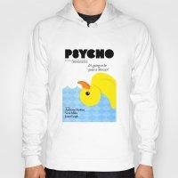 psycho Hoodies featuring Psycho by Chá de Polpa