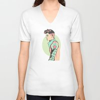 pastel V-neck T-shirts featuring Pastel by Shop 5