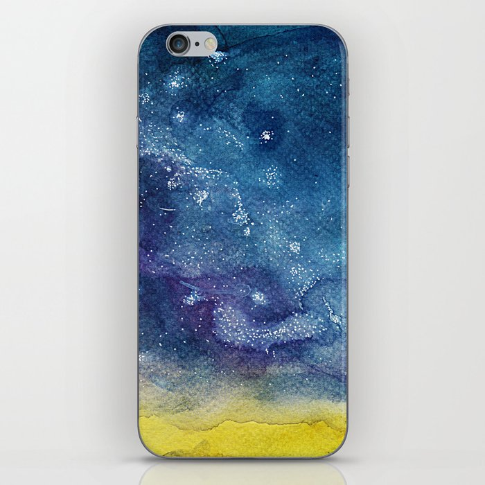 Starry Night - Watercolor Painting iPhone Skin