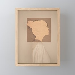 Paper portrait Framed Mini Art Print