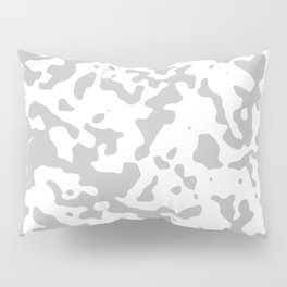 Spots - White and Silver Gray Pillow Sham