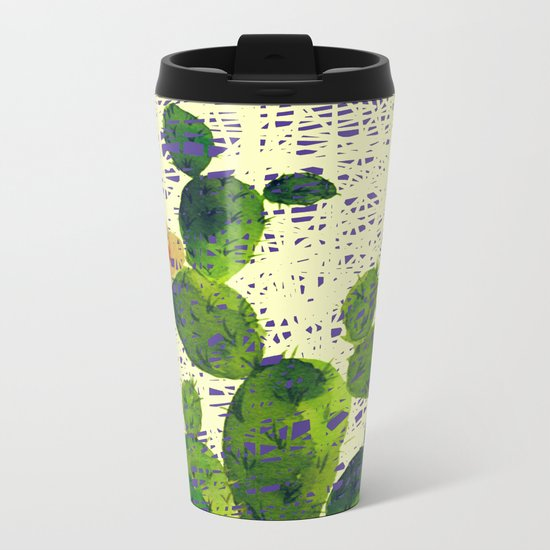 weird cactus Metal Travel Mug