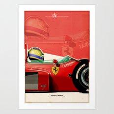 Michele Alboreto - F1 1985 Art Print