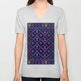 Bohemian Kilim Ethnic Pattern 1 Unisex V-Neck