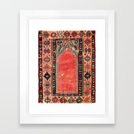Sivas  Antique Cappadocian Turkish Niche Kilim Print Framed Art Print