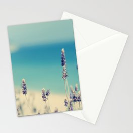 beach - lavender blues Stationery Cards