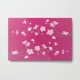 Cherry Blossom - Magenta Metal Print