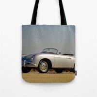 porsche Tote Bags featuring Porsche Speedster by Hugh Hamilton