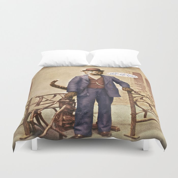 "One Cool Cat: ""Well . . . Hello, kitties!"" Duvet Cover"