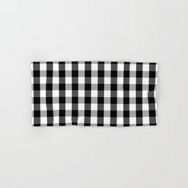 Large Black White Gingham Checked Square Pattern Hand & Bath Towel