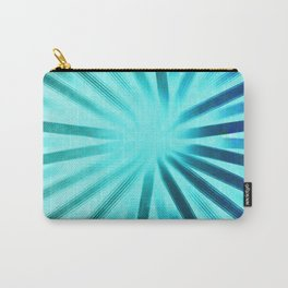 Intersecting-Aqua Carry-All Pouch