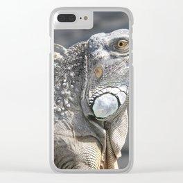 Lounging Iguana Clear iPhone Case