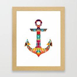 Decorative Anchor Framed Art Print