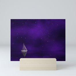 Purple Ship Mini Art Print