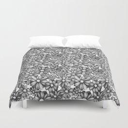 Etchy Flower Duvet Cover