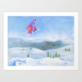 Winter Flight - Drawing 1 Art Print
