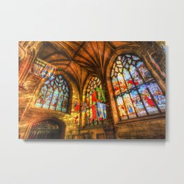 Evening Sun Cathedral Metal Print