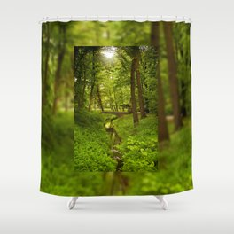 Green Spring Trees Shower Curtain
