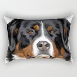 BERNESE MOUNTAIN DOG ART Rectangular Pillow