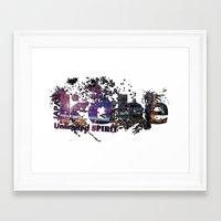 kobe Framed Art Prints featuring kobe by kobe Japan Unlimited Spirit