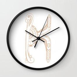 Fancy K Wall Clock