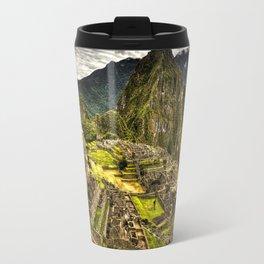 Machu Picchu in Hi-Res HDR landscape photo Travel Mug