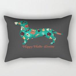 Happy Hallo-Weenie Rectangular Pillow