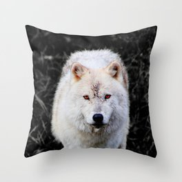 The Wolf Stare Throw Pillow