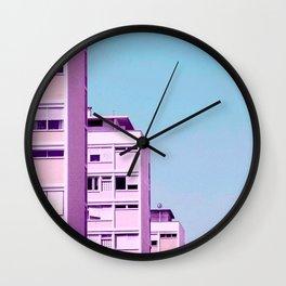 pink on the horizon Wall Clock