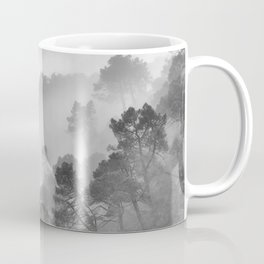 "BW.""Mountain light II"". Foggy forest. Coffee Mug"