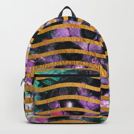 Gold Waves and Ink #society6 Backpack