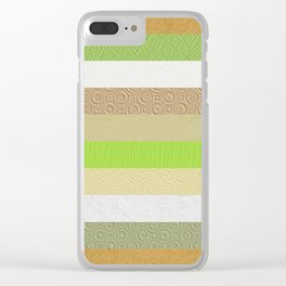 Vintage embossed paper stripes collage Clear iPhone Case
