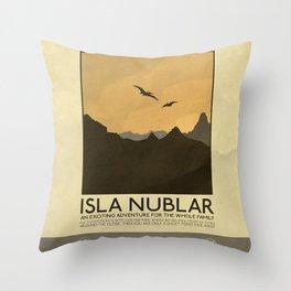 Silver Screen Tourism: Isla Nublar / Jurassic Park World Throw Pillow