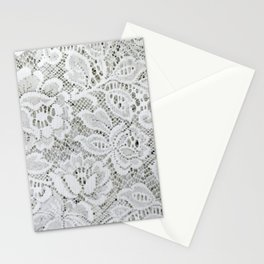 White Floral Lace Stationery Cards