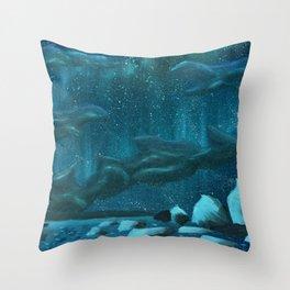 Winter's Kiss Throw Pillow