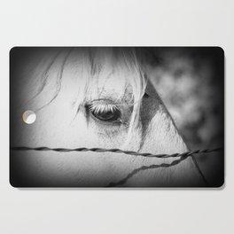 Horse's Eye: Black and White Photo Cutting Board