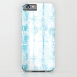 Light Blue Tie-Dye Plaid iPhone Case