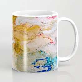 Marble Effect Acrylic Pour Abstract Coffee Mug